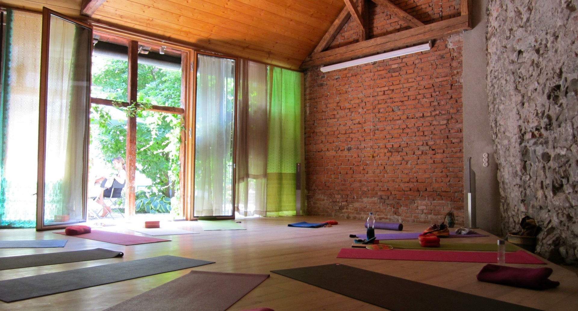 Yoga teaching room